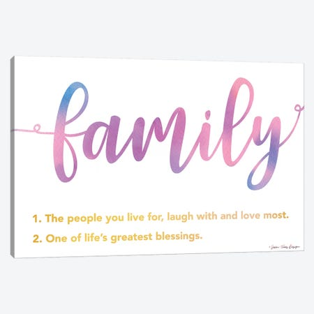 Family Canvas Print #STD114} by Seven Trees Design Canvas Artwork