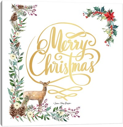 Forest Merry Christmas Canvas Art Print