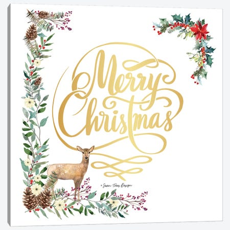 Forest Merry Christmas Canvas Print #STD116} by Seven Trees Design Canvas Art