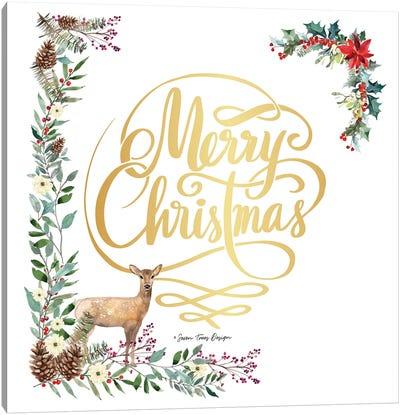 Forest Merry Christmas Canvas Art Print