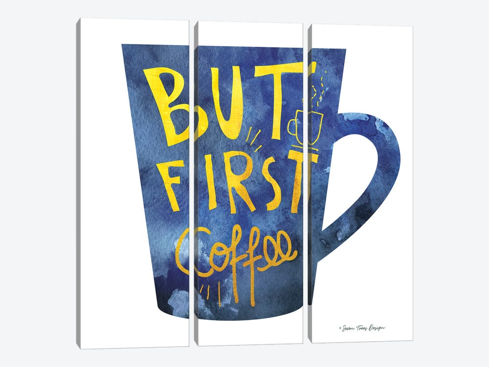 But First Coffee I by Seven Trees Design 3-piece Canvas Art Print