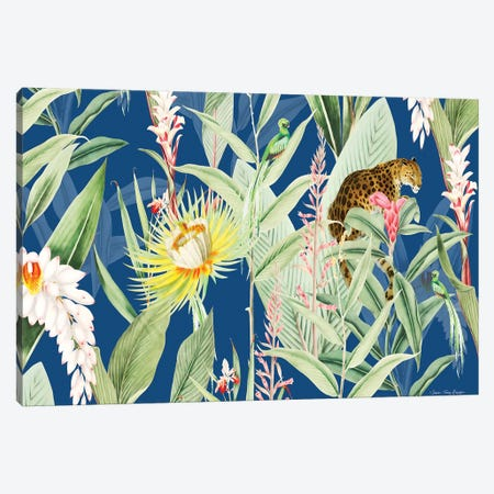 Leopard Flowers Canvas Print #STD121} by Seven Trees Design Canvas Artwork
