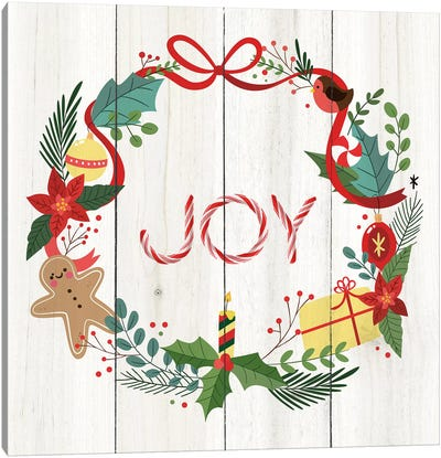 Peppermint Joy Canvas Art Print