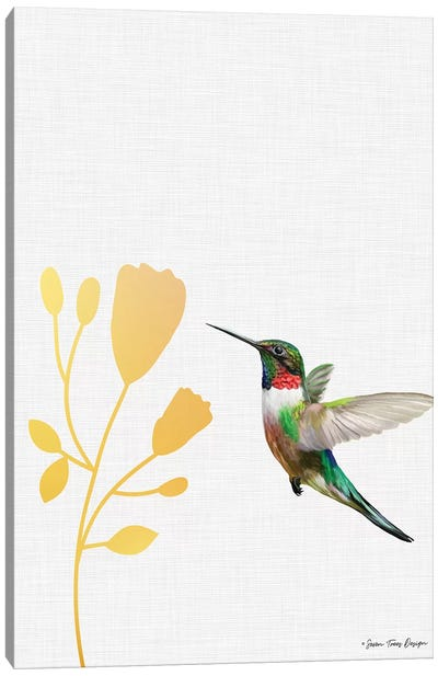 Hummingbird and the Flower    Canvas Art Print