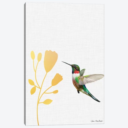 Hummingbird and the Flower    Canvas Print #STD126} by Seven Trees Design Art Print