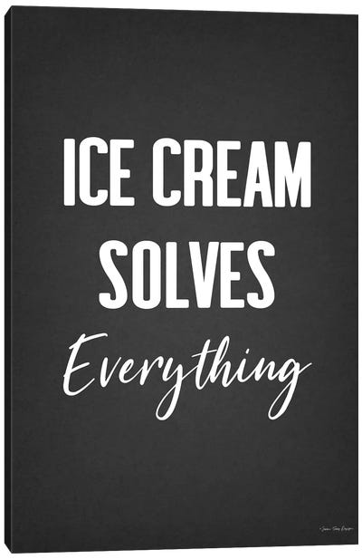 Ice Cream Solves Everything Canvas Art Print