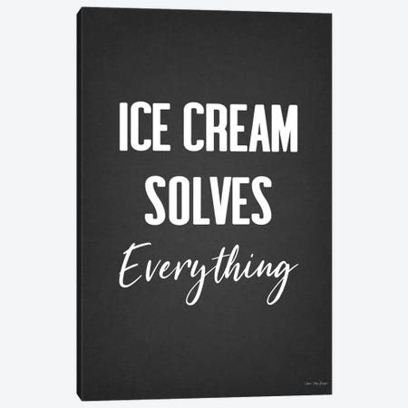 Ice Cream Solves Everything Canvas Print #STD128} by Seven Trees Design Canvas Art