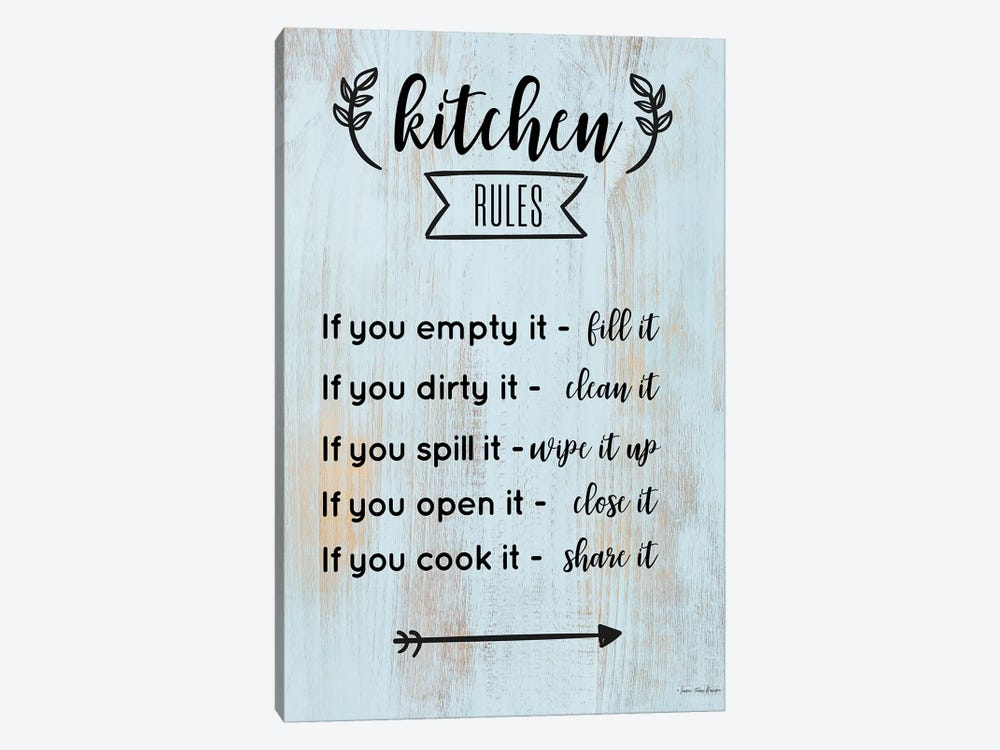 Kitchen Rules by Seven Trees Design 1-piece Canvas Art Print