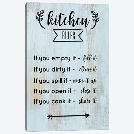 Kitchen Rules Canvas Print #STD129} by Seven Trees Design Canvas Artwork