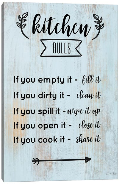 Kitchen Rules Canvas Art Print