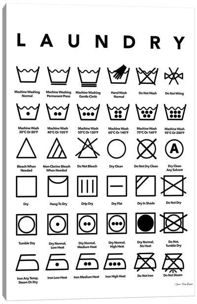 Laundry Symbols Canvas Art Print