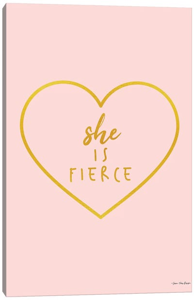 She is Fierce Canvas Art Print