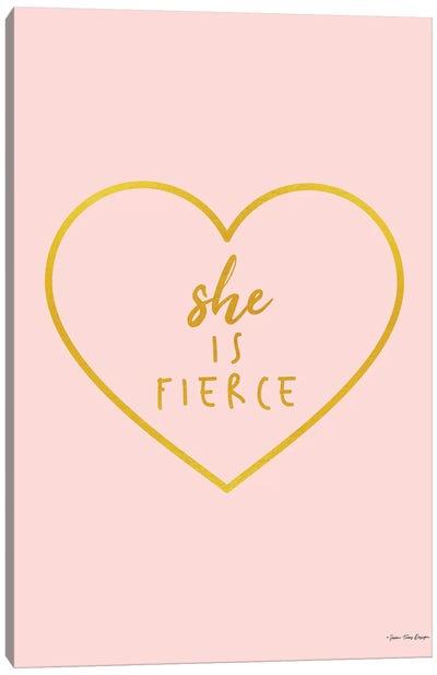 She is Fierce Canvas Art Print