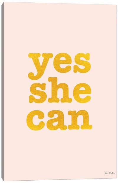 Yes She Can Canvas Art Print