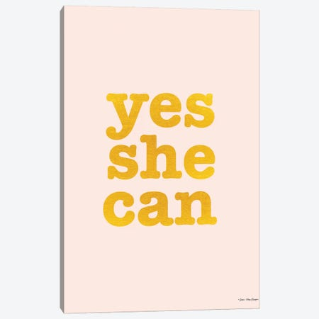 Yes She Can Canvas Print #STD134} by Seven Trees Design Canvas Art