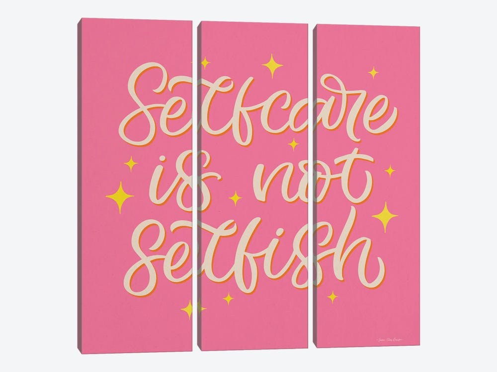 Self Care is not Selfish by Seven Trees Design 3-piece Canvas Art Print