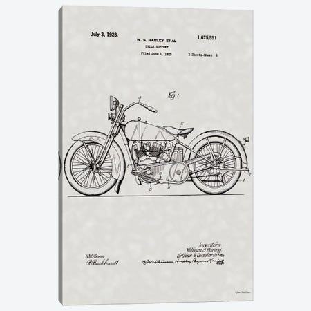 Harley Patent Canvas Print #STD143} by Seven Trees Design Canvas Artwork
