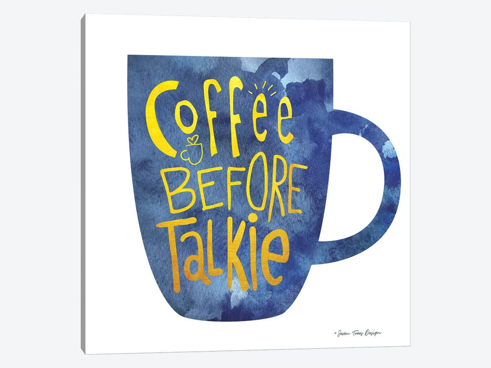 Coffee Before Talkie I by Seven Trees Design 1-piece Canvas Art