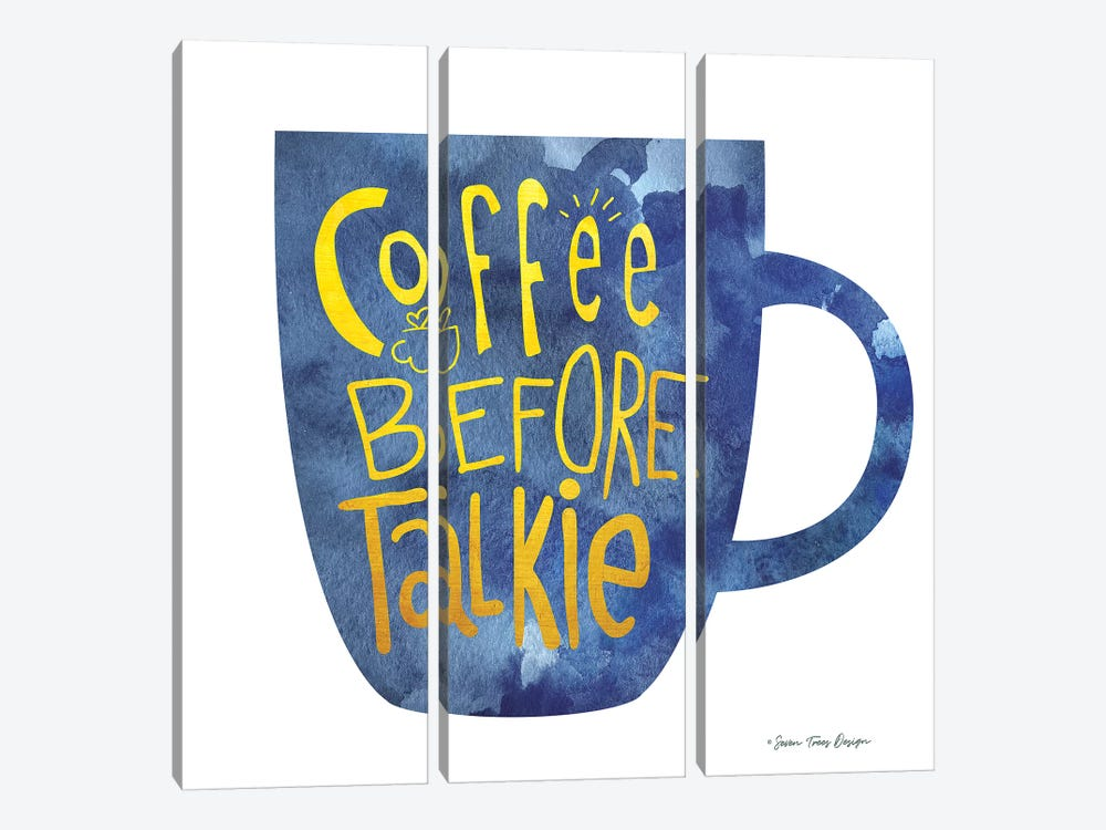 Coffee Before Talkie I by Seven Trees Design 3-piece Canvas Artwork