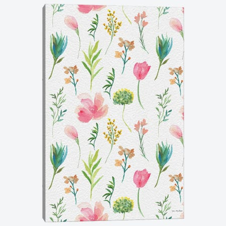 Happy Flora Canvas Print #STD150} by Seven Trees Design Art Print