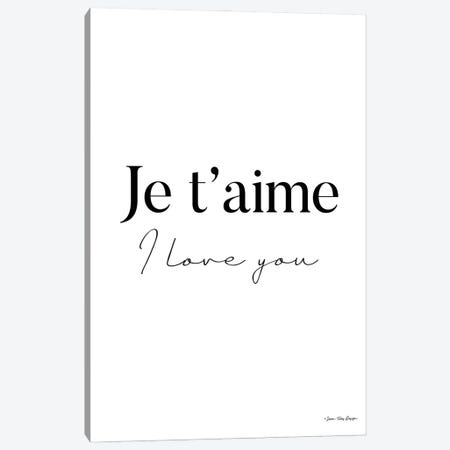 I Love You in French Canvas Print #STD151} by Seven Trees Design Canvas Print