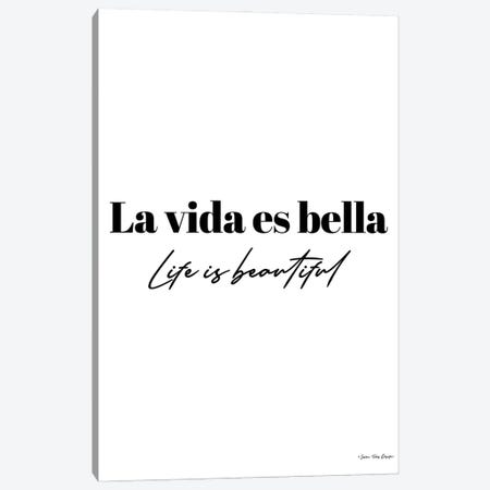Life is Beautiful in Spanish Canvas Print #STD153} by Seven Trees Design Canvas Art Print