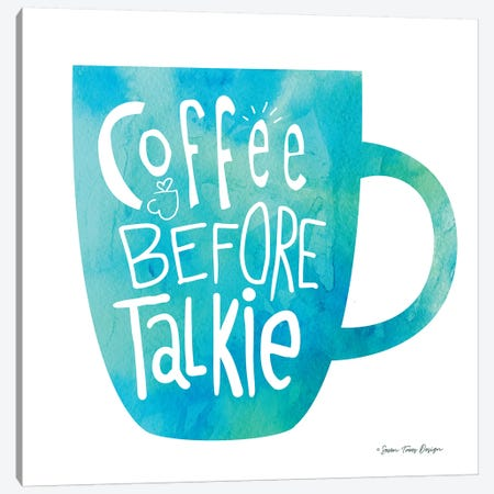 Coffee Before Talkie II Canvas Print #STD15} by Seven Trees Design Art Print