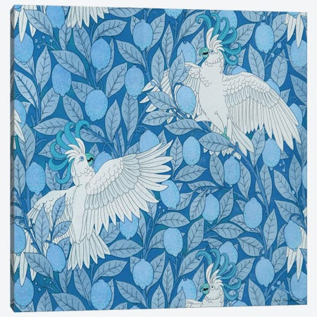 Parrots and Lemons Canvas Print #STD166} by Seven Trees Design Canvas Print