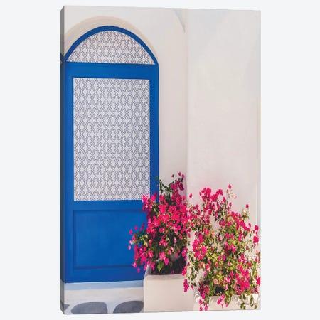 Santorini Door Canvas Print #STD169} by Seven Trees Design Canvas Art