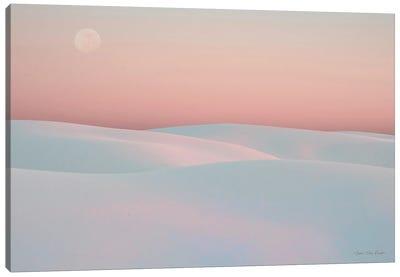 Moon And Dunes Canvas Art Print