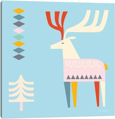 The Christmas Deer Canvas Art Print