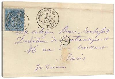 Vintage Letter Canvas Art Print