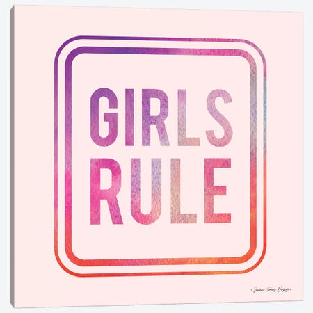 Girls Rule Canvas Print #STD25} by Seven Trees Design Canvas Artwork