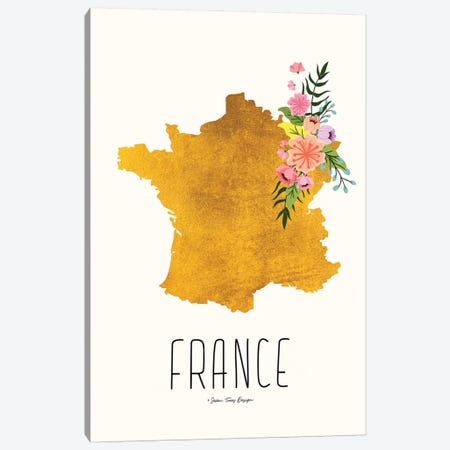 Gold France Canvas Print #STD26} by Seven Trees Design Canvas Art