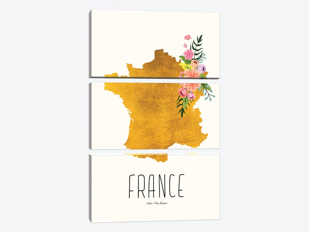 Gold France by Seven Trees Design 3-piece Canvas Art Print
