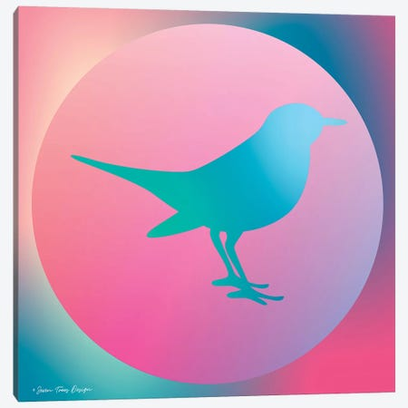 Gradient Bird Canvas Print #STD28} by Seven Trees Design Canvas Print