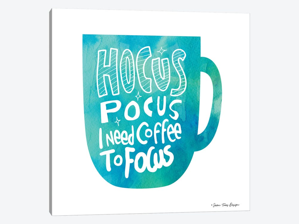Hocus Pocus I Need Coffee by Seven Trees Design 1-piece Canvas Artwork