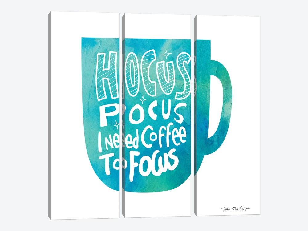 Hocus Pocus I Need Coffee 3-piece Canvas Art