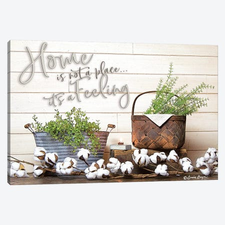 Home is Not a Place Canvas Print #STD31} by Seven Trees Design Canvas Artwork