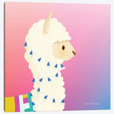 Llama Canvas Print #STD37} by Seven Trees Design Canvas Art Print