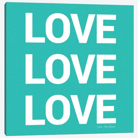 Love, Love, Love Canvas Print #STD38} by Seven Trees Design Canvas Wall Art