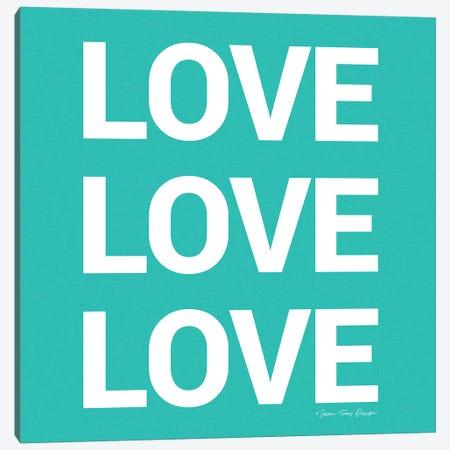 Love, Love, Love Canvas Print #STD38} by Seven Trees Design Canvas Wall Art