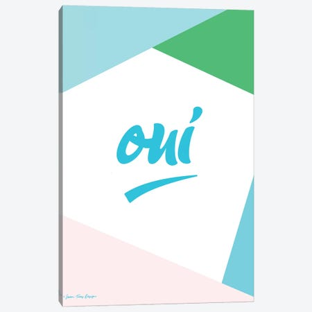 Oui I Canvas Print #STD40} by Seven Trees Design Art Print