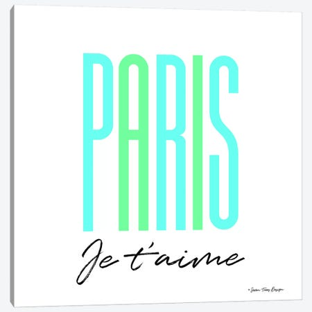 Paris Je T'aime Canvas Print #STD43} by Seven Trees Design Canvas Art Print