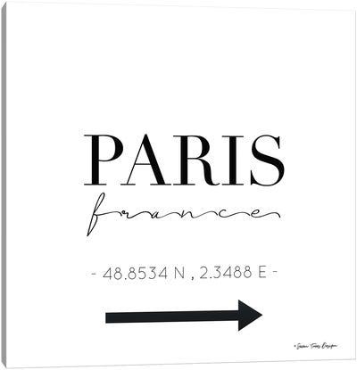 Paris Sign Canvas Art Print