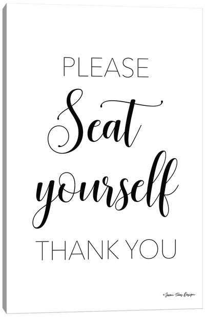 Please Seat Yourself Canvas Art Print