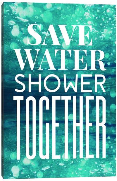 Save Water  Canvas Art Print
