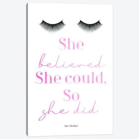 She Believed Canvas Print #STD54} by Seven Trees Design Canvas Print