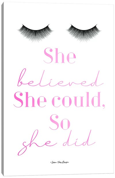 She Believed Canvas Art Print