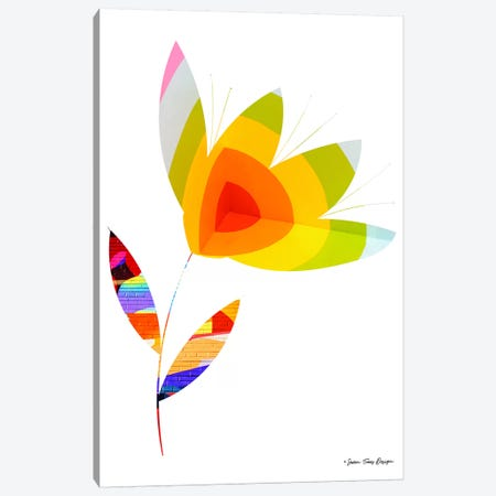 Street Art Flower I Canvas Print #STD57} by Seven Trees Design Art Print